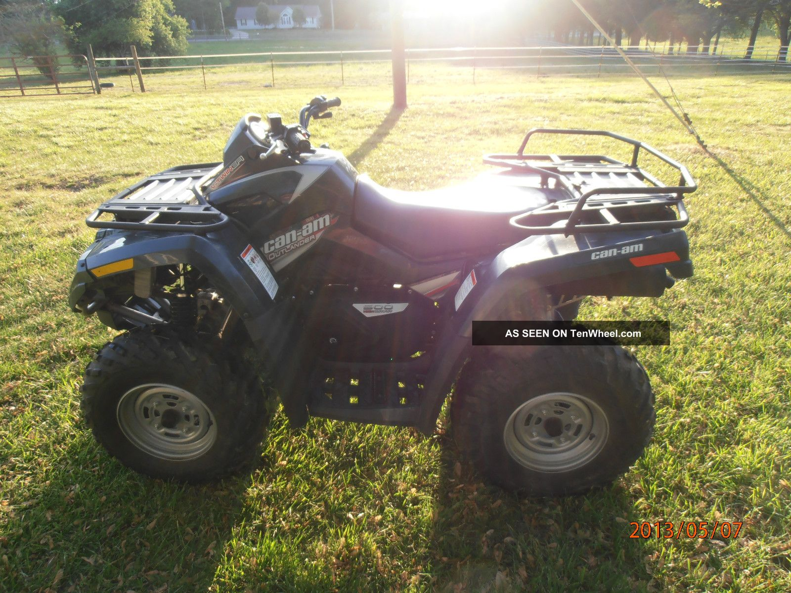 2007 Can - Am Outlander 500,  4x4,  Atv,  Pick - Up Only No Can-Am photo