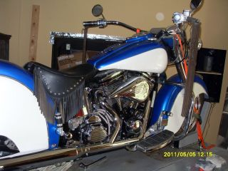 1999 Indian Chief Metallic Blue S&s Motor photo