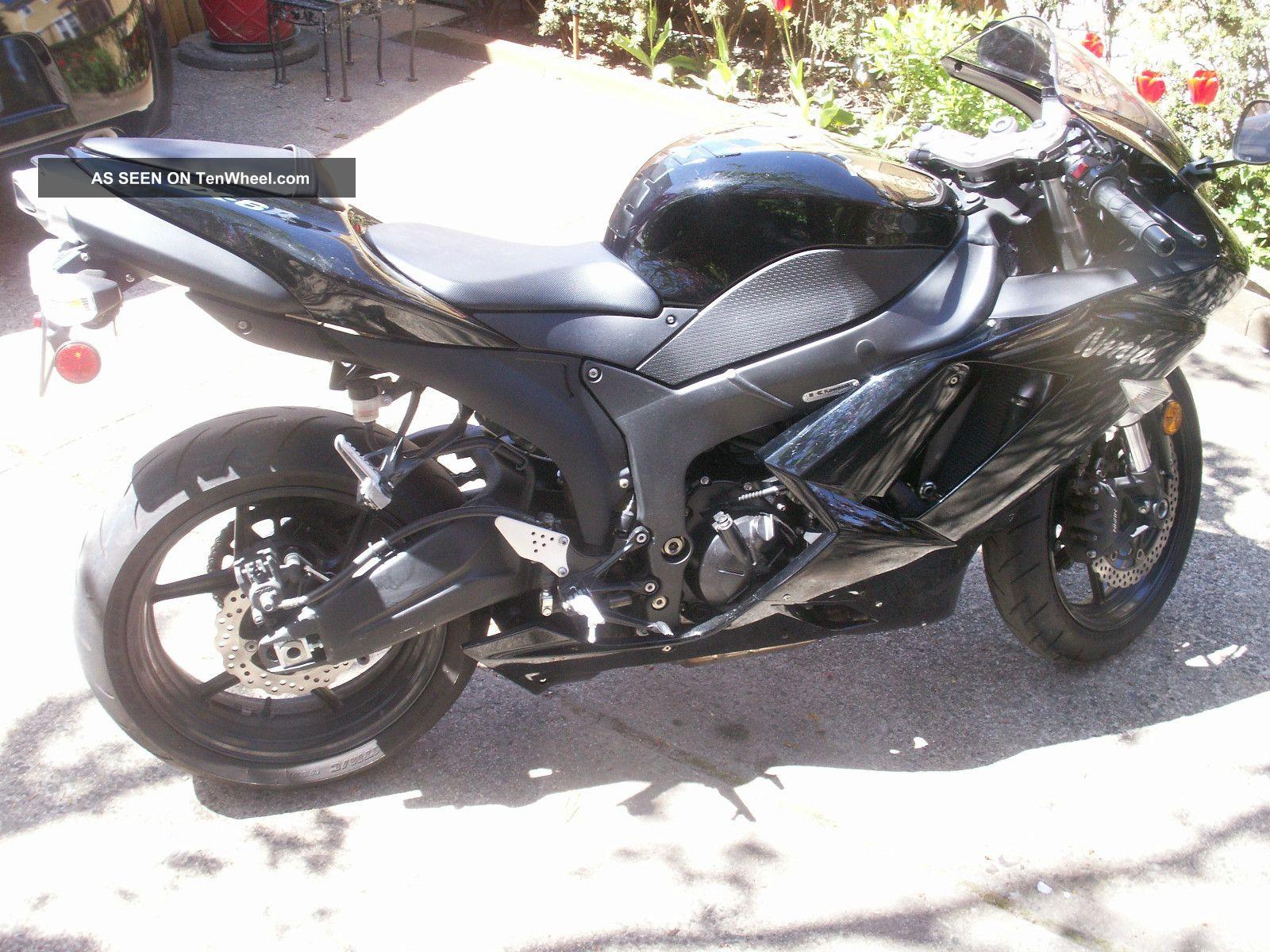2007 Kawasaki Zx6r Black Www Imgkid Com The Image Kid