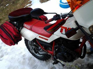 1987 Yamaha: Tw200 Trailway Enduro 200cc Tw 200 Xt Red Dual Purpose Motorcycle photo
