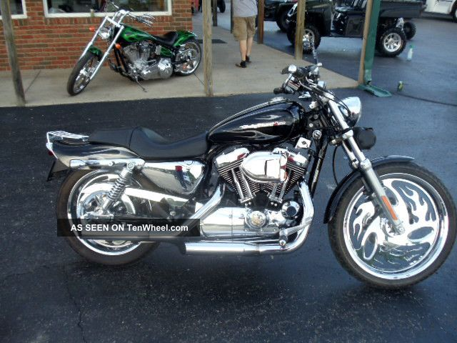2004 Harley Davidson 1200 Sportster Custom Chrome Bike Motorcycle Sportster photo