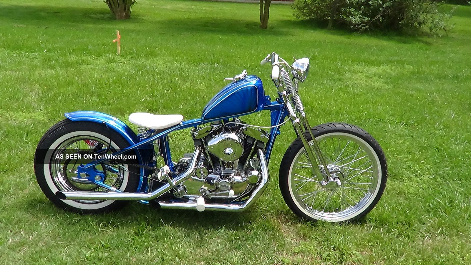 1973 Harley Davidson Ironhead Sportster Bobber Chopper Metalflake Kandy 1000cc Sportster photo