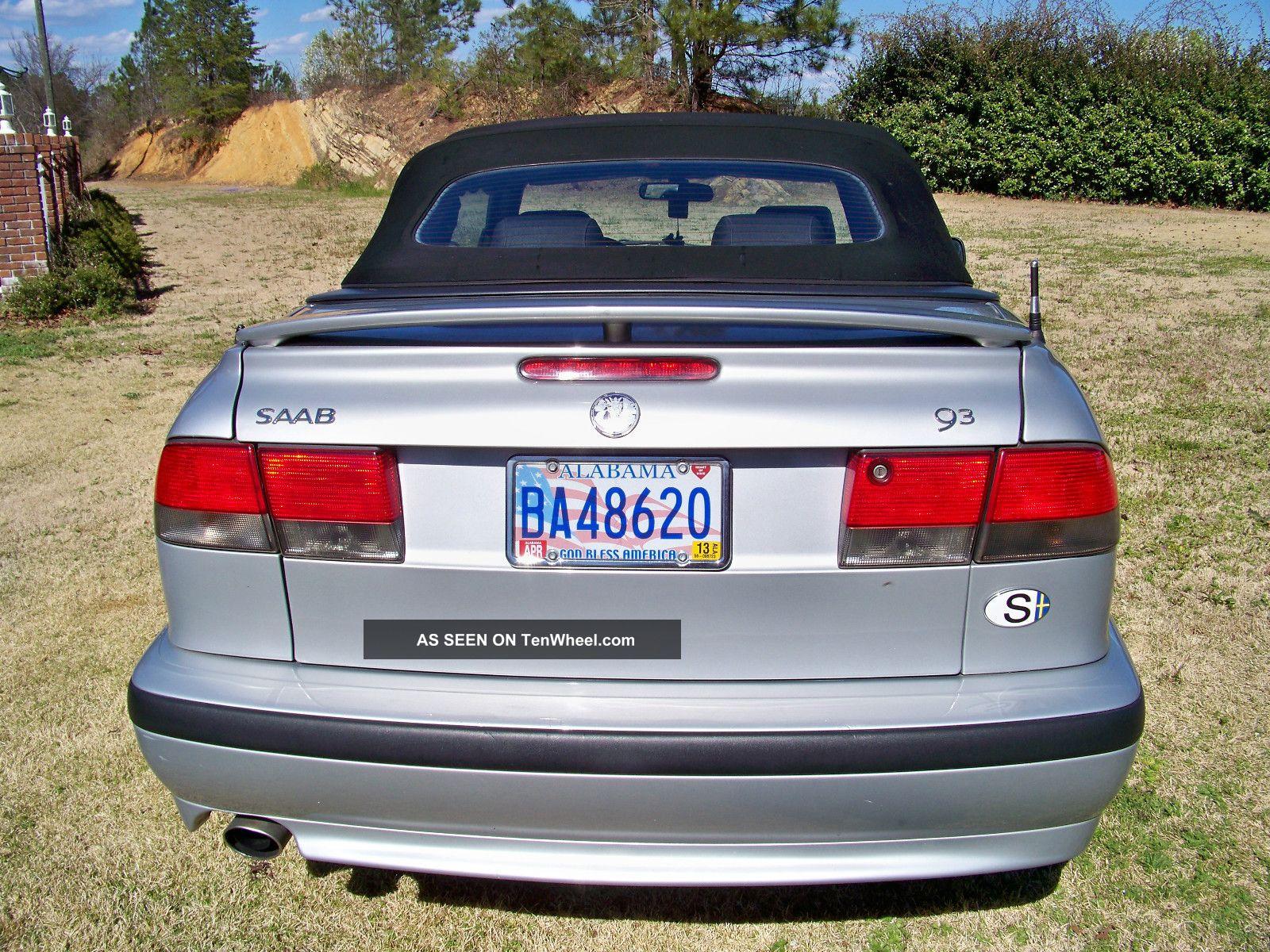 2002 saab 9 3 2 door convertible automatic 2 0 engine turbo. Black Bedroom Furniture Sets. Home Design Ideas