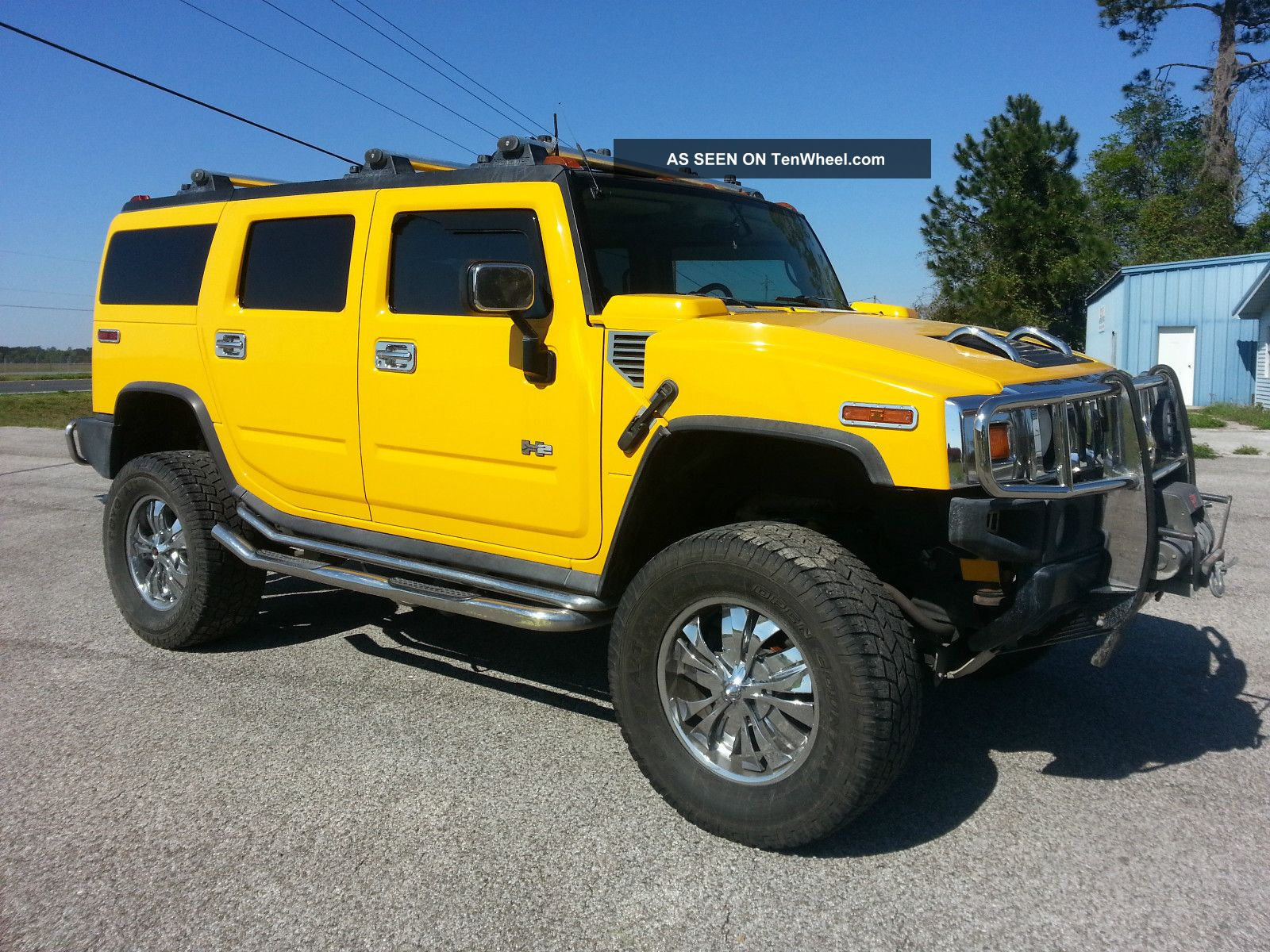 2003 hummer h2 yellow and loaded. Black Bedroom Furniture Sets. Home Design Ideas