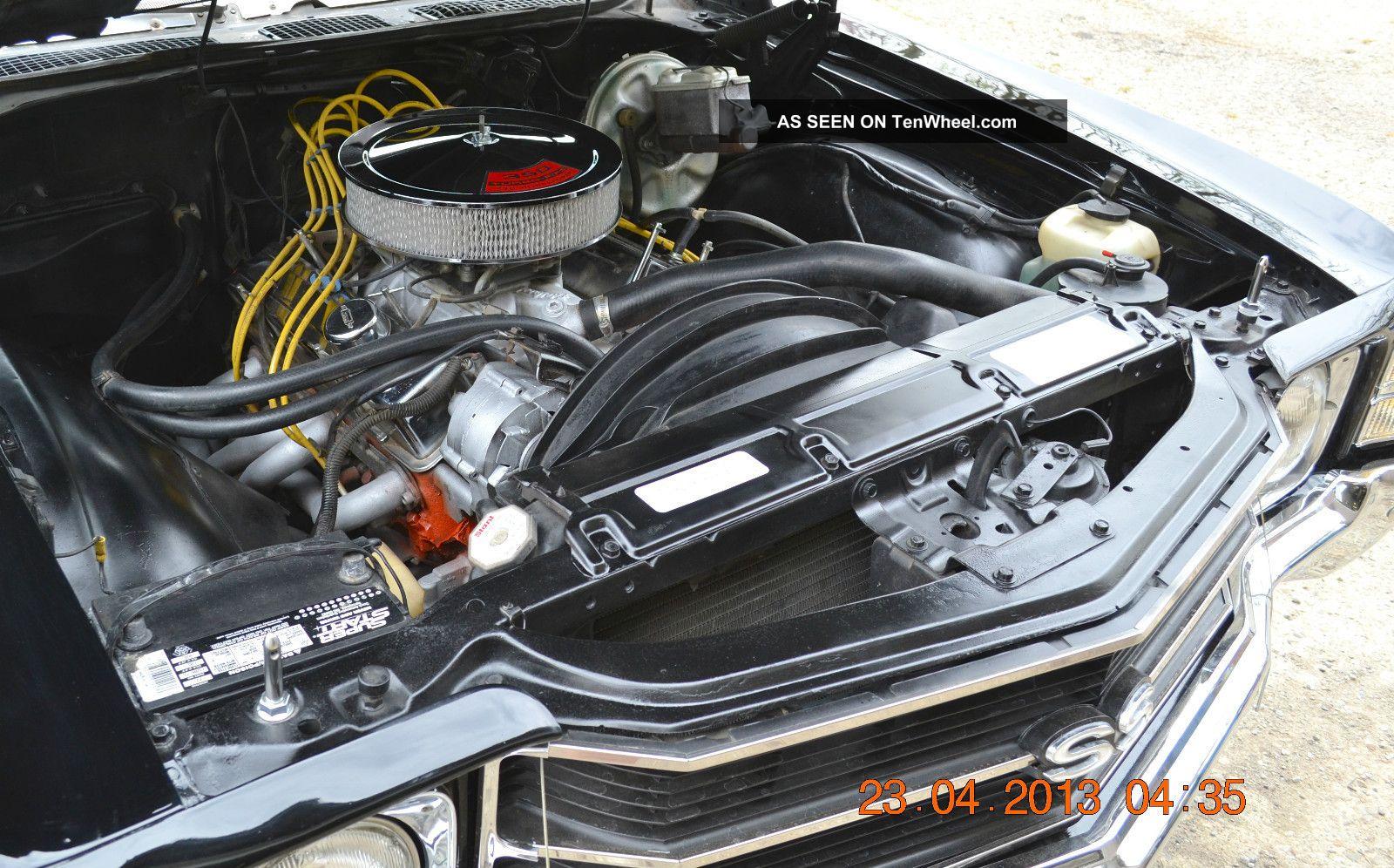 1971 Chevelle Ss 350 4spd 12 Bolt Tach Dash Slick Tuxedo Black