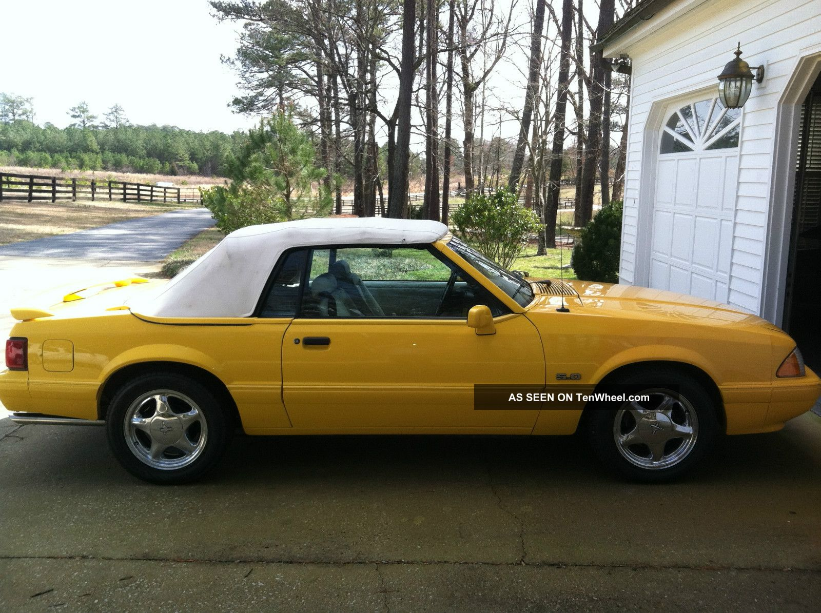 1993 Ford Mustang Lx 5.  0 Yellow Convertible Mustang photo