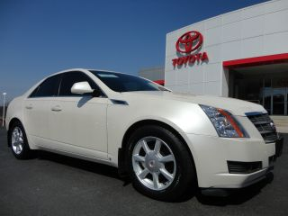 2009 Cadillac Cts 4 Awd White Diamond Tri - Coat Paint Ebony 42k Mi Video photo