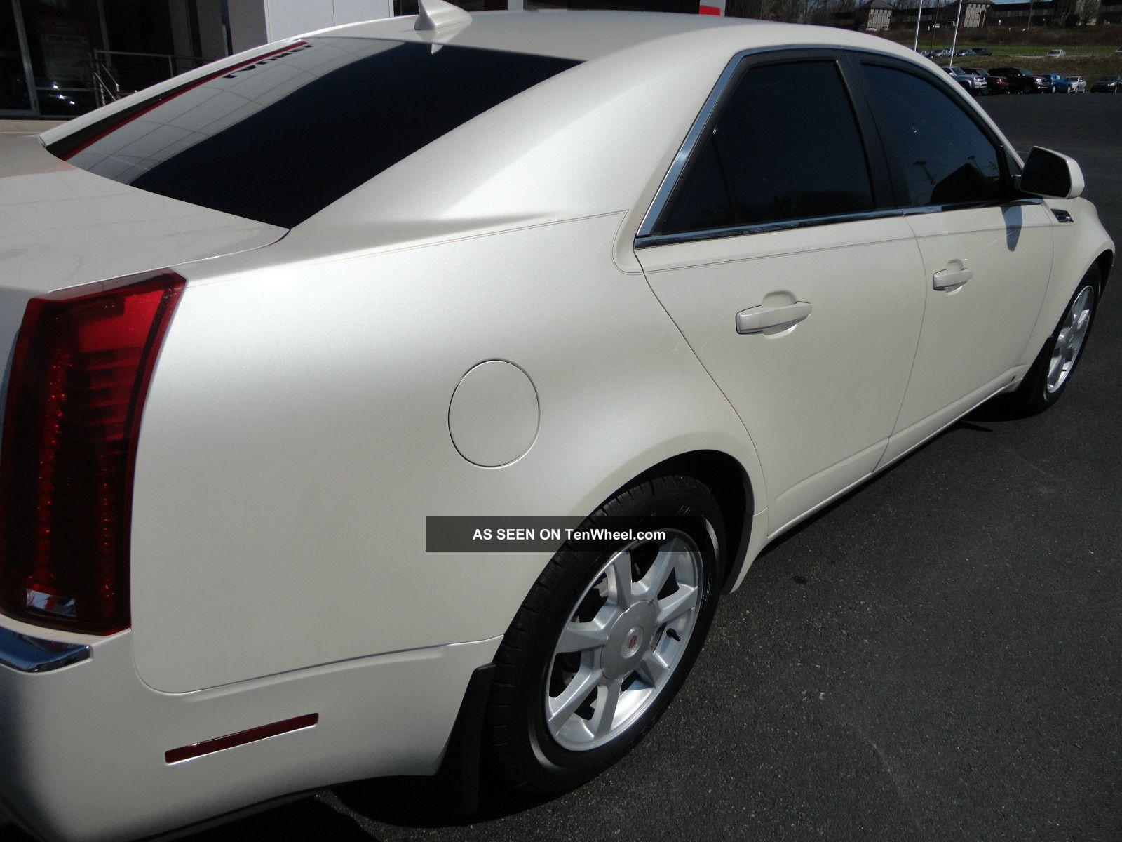 2009 Cadillac Cts 4 Awd White Diamond Tri - Coat Paint Ebony 42k Mi Video