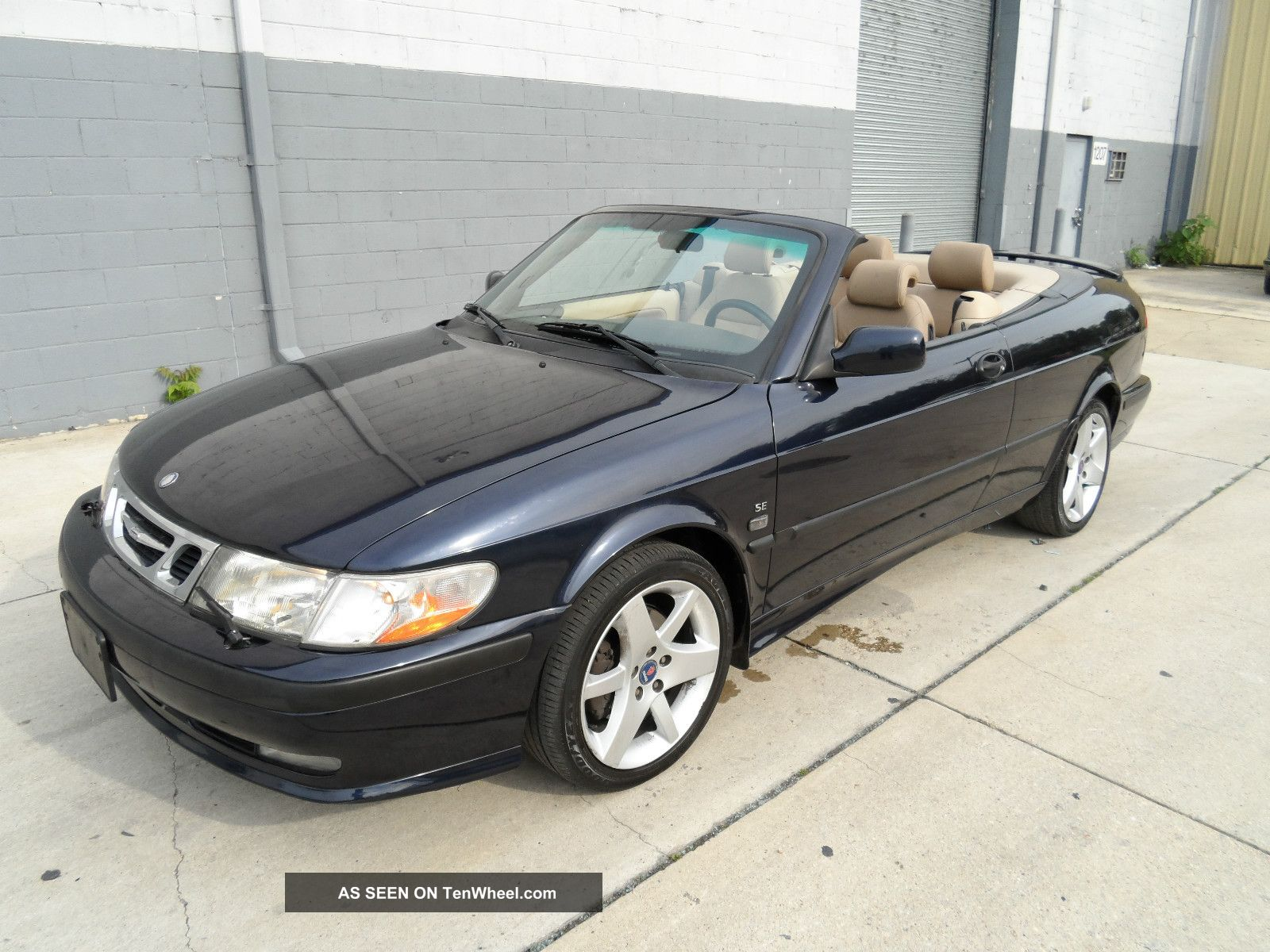2002 Saab 9 - 3 Se Convertible 119k 5speed Turbo Sporty Summer Car 9-3 photo
