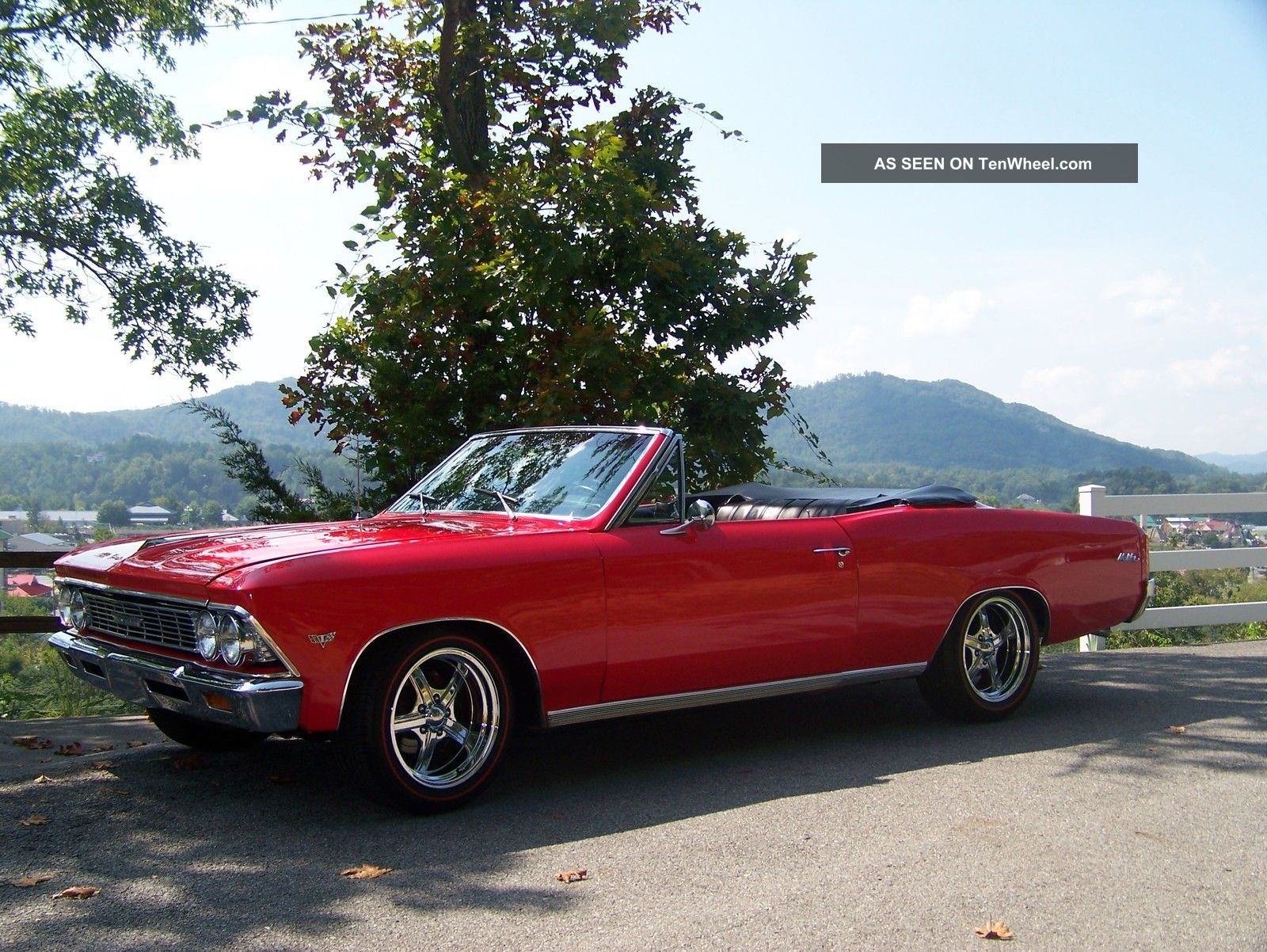 1966 Chevrolet Malibu Convertible 283 V - 8 2 Speed Automatic From The Factory Chevelle photo