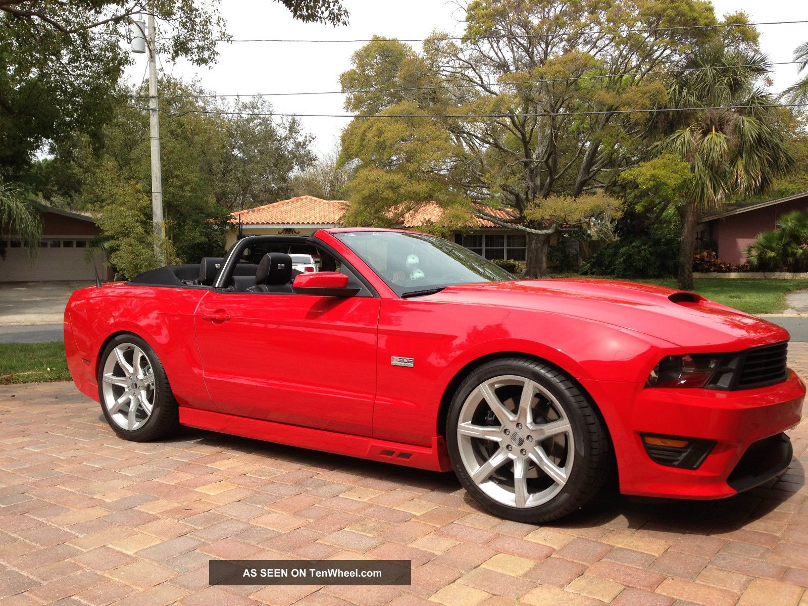 2011 Ford Mustang Gt Saleen Convertible In Race Red With Full Black Mustang photo