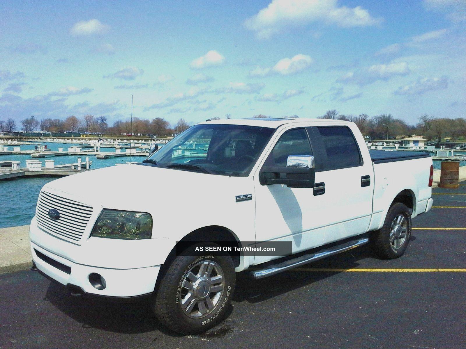 2008 ford f 150 lariat crew cab 5 4l 4x4 loaded. Black Bedroom Furniture Sets. Home Design Ideas