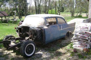 1957 Chevy 150 2 Dr Sedan Ex Gasser Barn Find photo