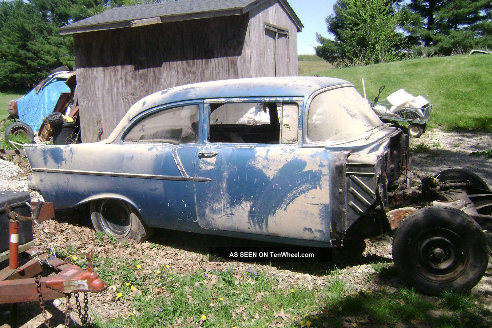 1957 Chevy 150 2 Dr Sedan Ex Gasser Barn Find