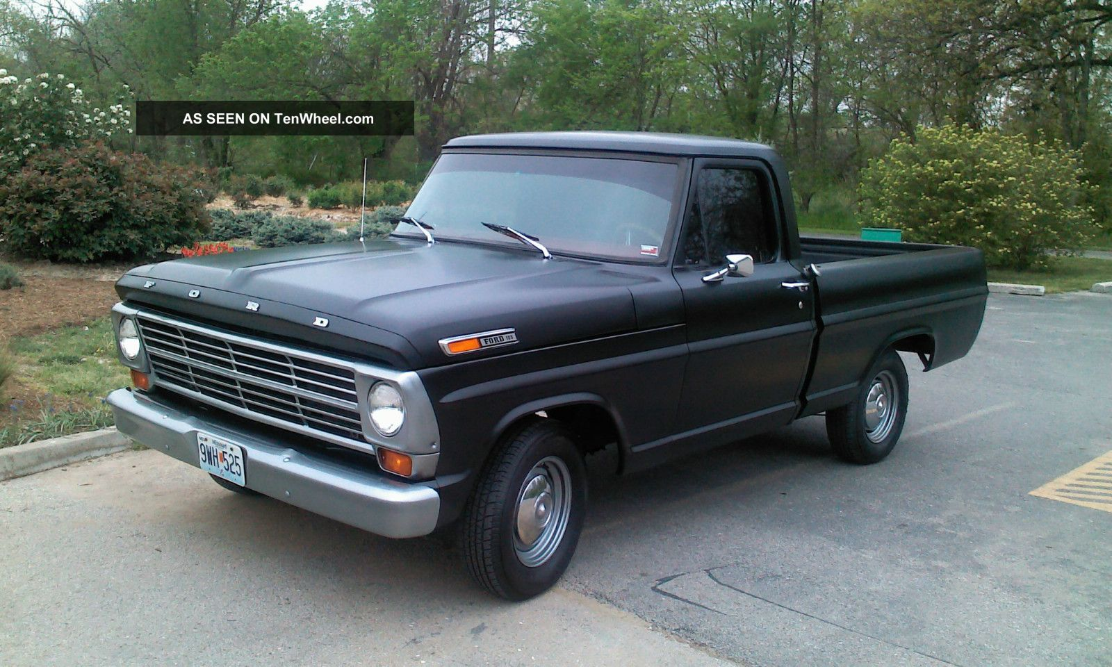 1968 Ford F - 100 Exterior Satin Black / Gun Metal Grey Interior Red And Black F-100 photo