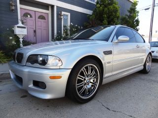 2003 Bmw M3 Coupe Smg Silver / Black Michelin Pilot Tires Service photo