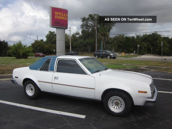 1978 Amc Concord Cloth Top White Exterior Blue Interior Running - Restoration AMC photo