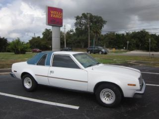 1978 Amc Concord Cloth Top White Exterior Blue Interior Running - Restoration photo