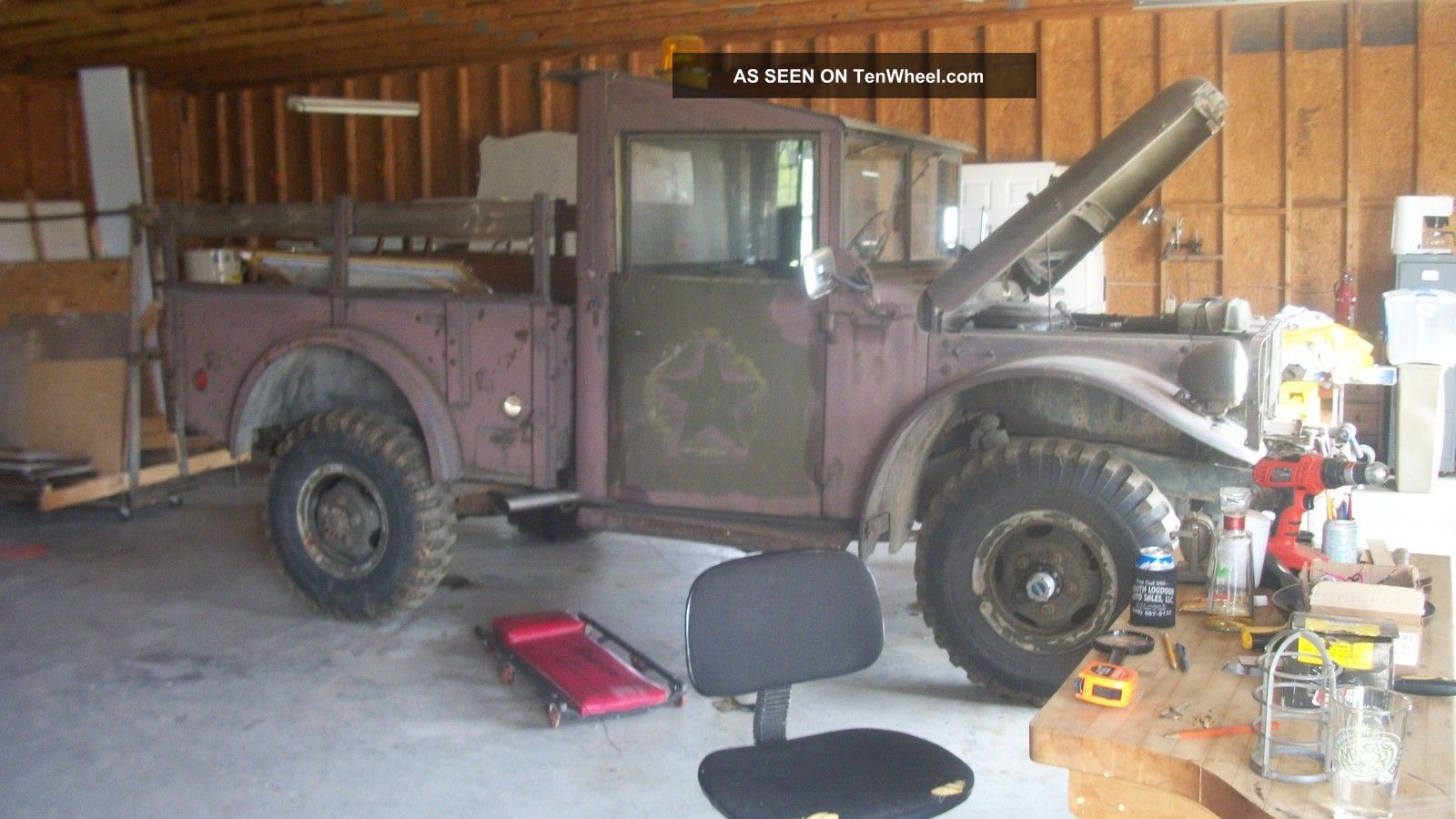 1954 Dodge M37 Power Wagon Troop Transport Vehicle Photo 8