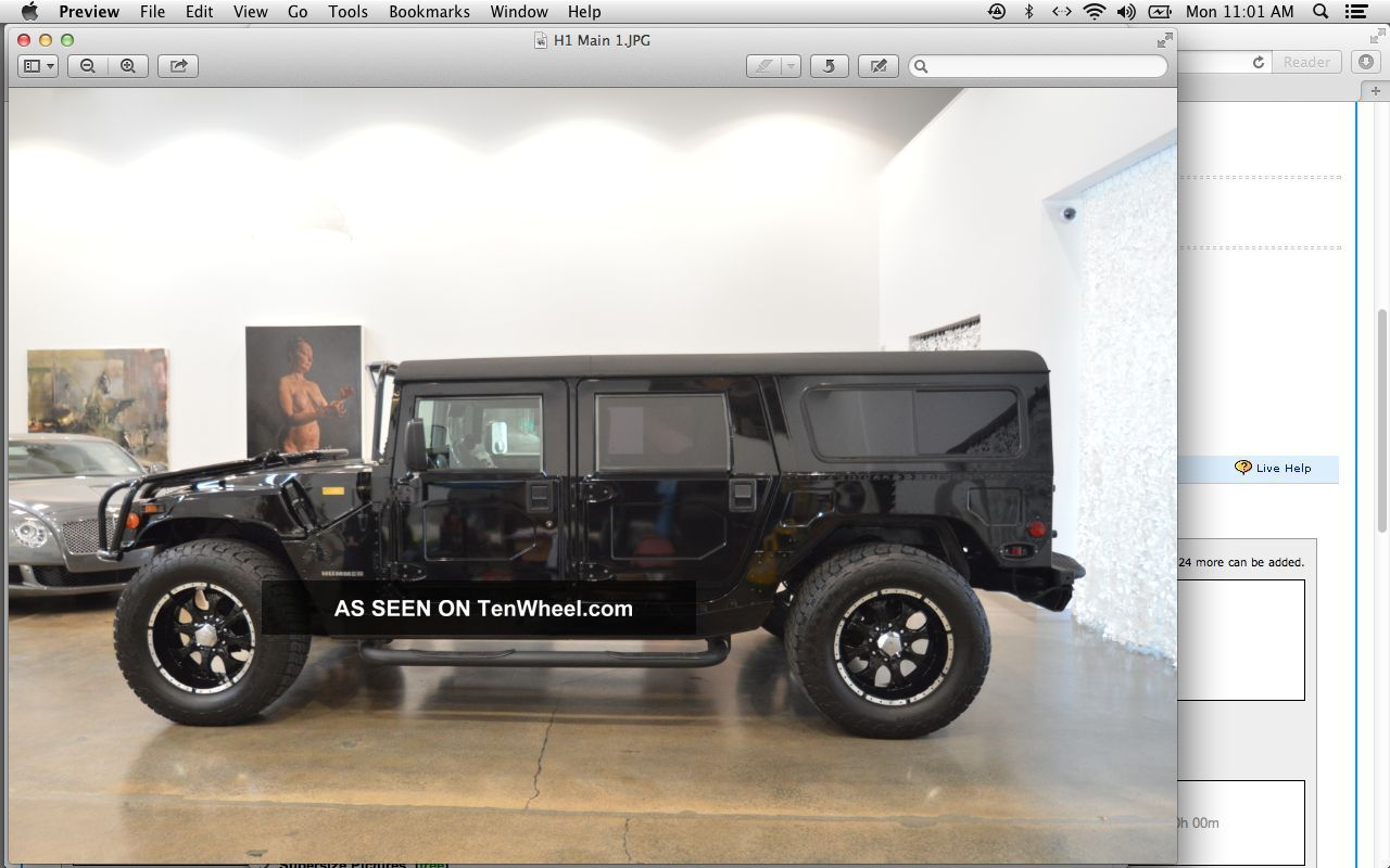 1995 Hummer V8 Gas H1 Wagon Loaded W / Full Factory Options & Over 40k In Extras H1 photo