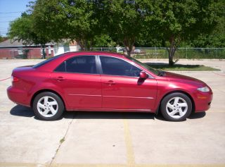 2003 Mazda 6 Texas Car Red Fire Metallic,  V6, photo