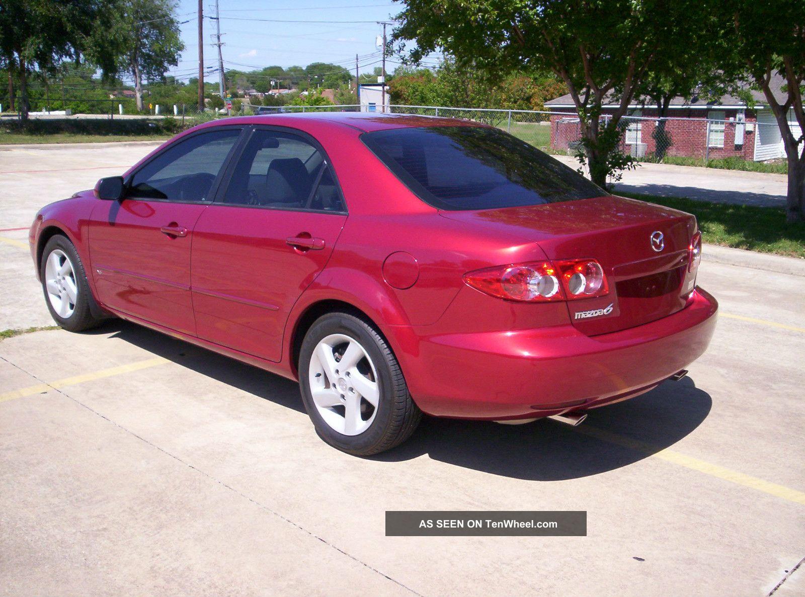 2003 Mazda 6 Texas Car Red Fire Metallic V6
