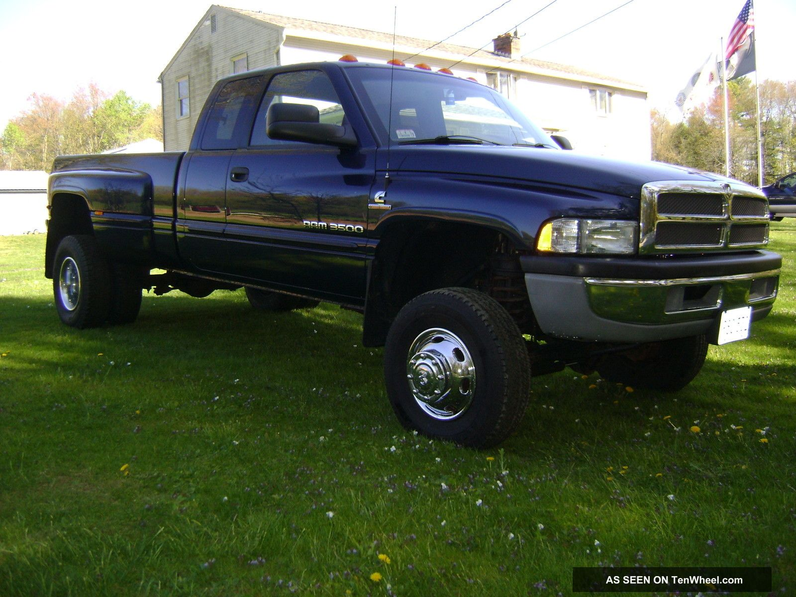 2001 dodge ram 3500 dually quad cab 5 9l cummins diesel 4x4 6spd. Black Bedroom Furniture Sets. Home Design Ideas