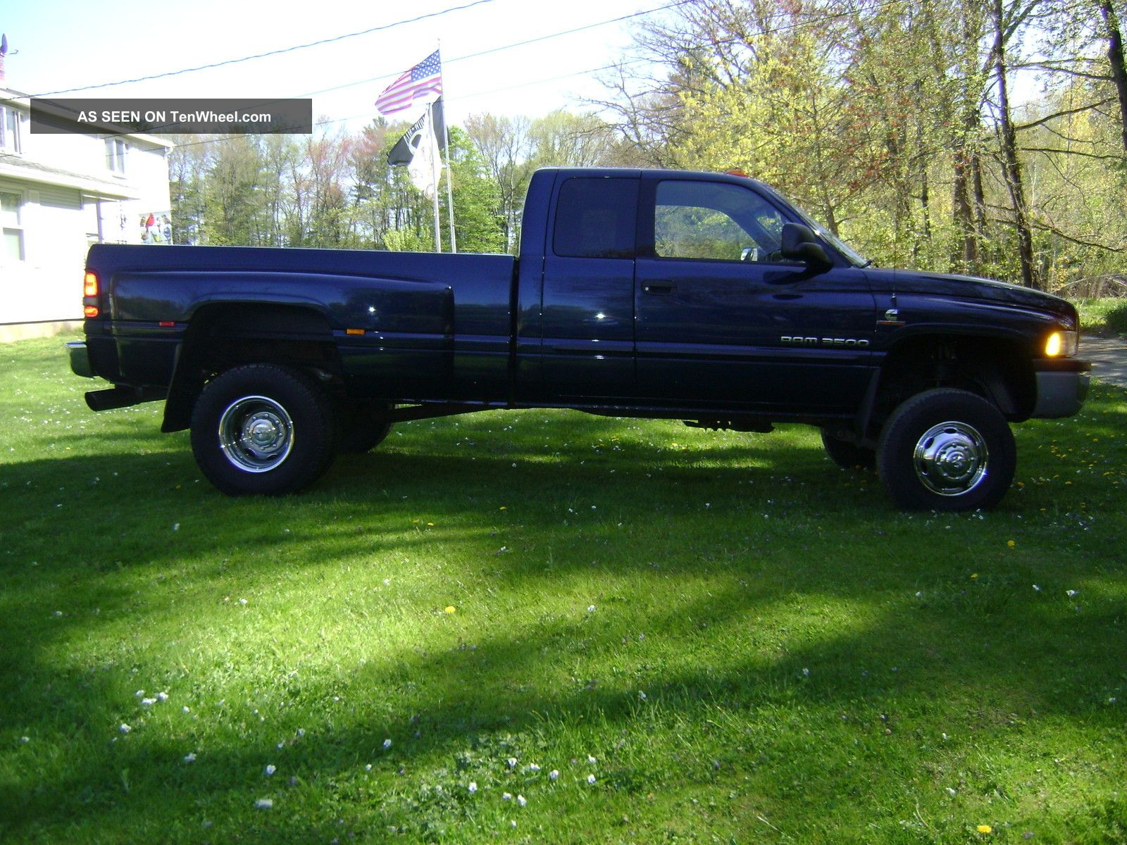 2001 Dodge Ram 3500 Dually Quad Cab 5 9l Cummins Diesel 4x4 6spd Extended