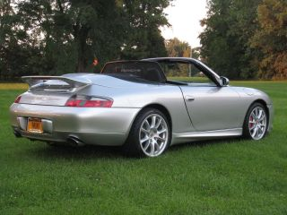 2001 Porsche Carerra Cabriolet Artic Silver / Black photo