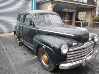 1946 Ford Sedan W Complete Drivetrain Flathead V 8 photo