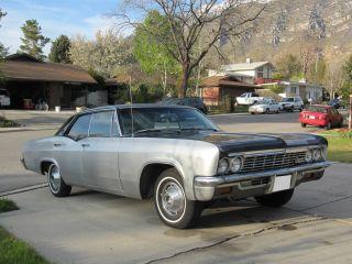 1966 Chevrolet Impala Black / Gray Base Hardtop 4 - Door 5.  3l photo