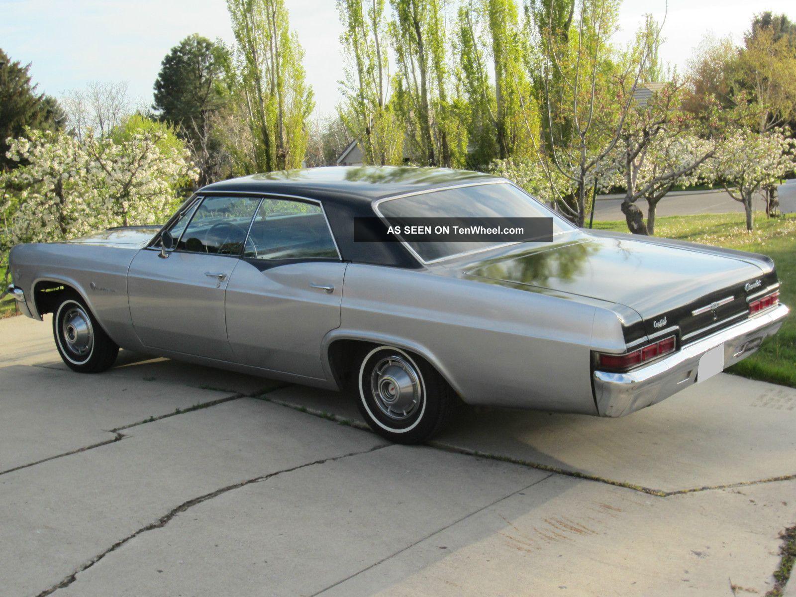 1966 Chevrolet Impala Black Gray Base Hardtop 4 Door 5 3l Chevy 2