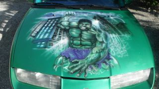 1992 Saturn Sl2 Base Sedan 4 - Door 1.  9l / Custom Incredible Hulk Airbrushed Paint photo