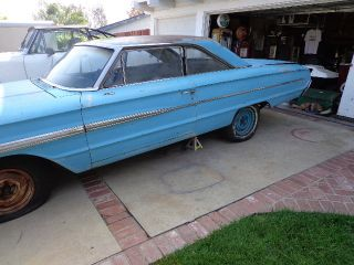 1964 Ford Galaxy 500 2 - Door Hardtop - Project Car Engine Cranks photo