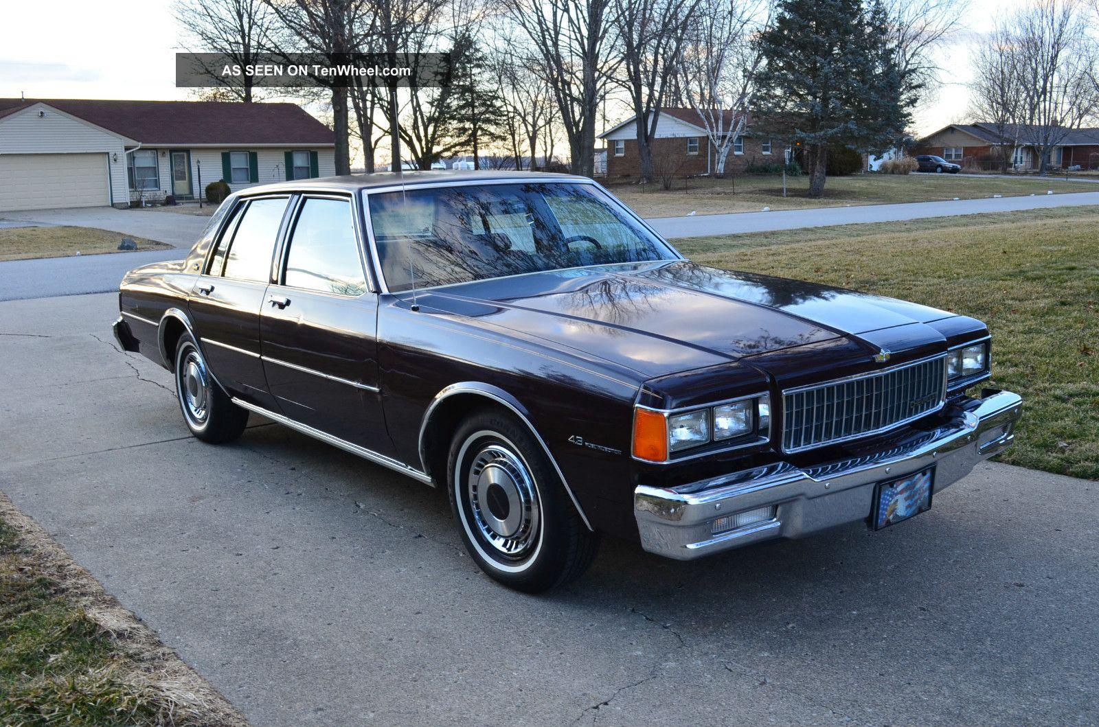 1985 Chevrolet Caprice Classic Sedan 4 Door 4 3l