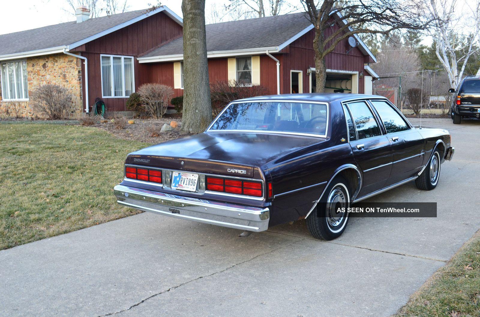 1985 Chevrolet Caprice Classic Sedan 4  Door 4. 3l Caprice photo 3