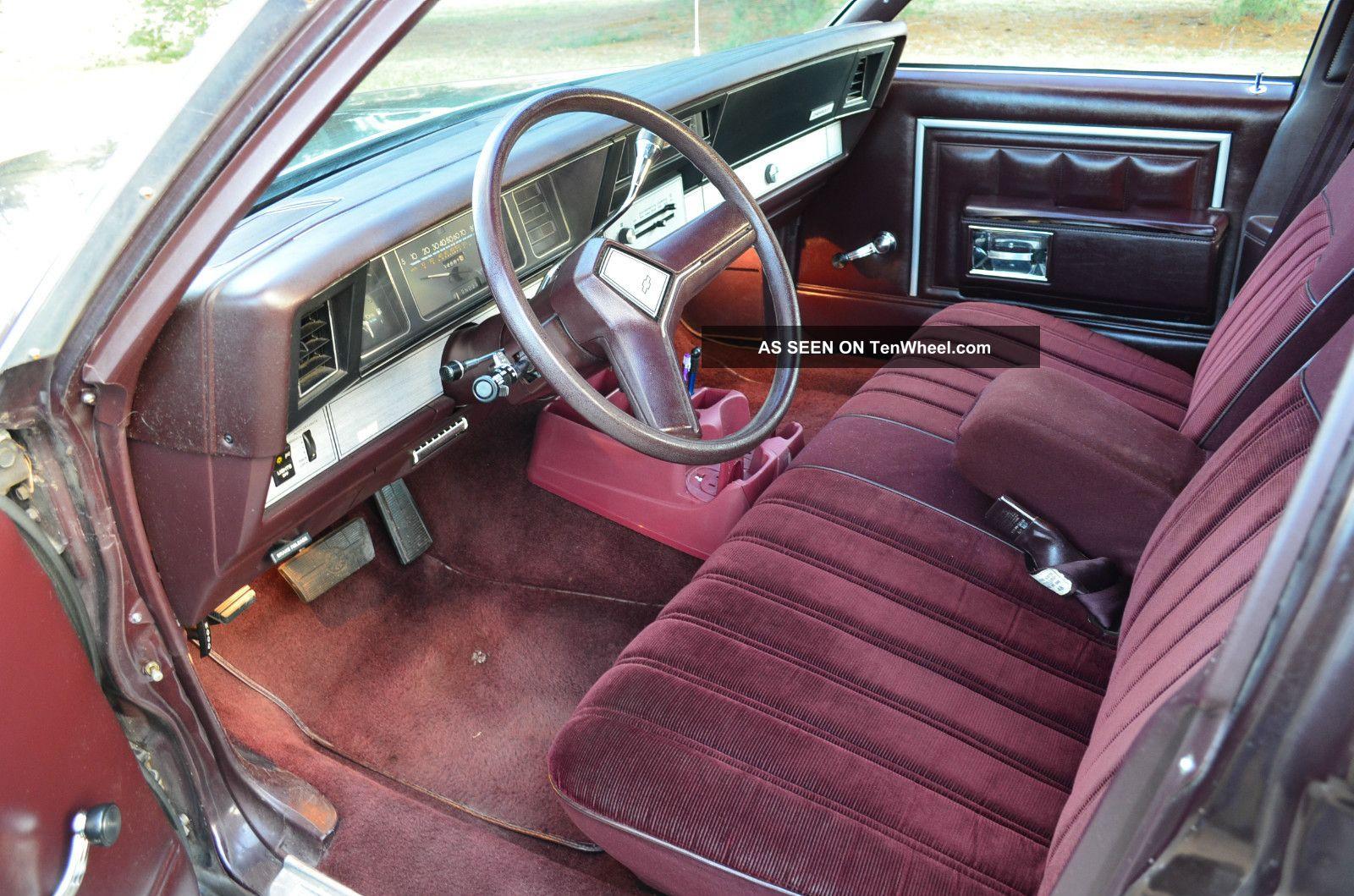 1985 chevrolet caprice classic sedan 4 door 4 3l tenwheel