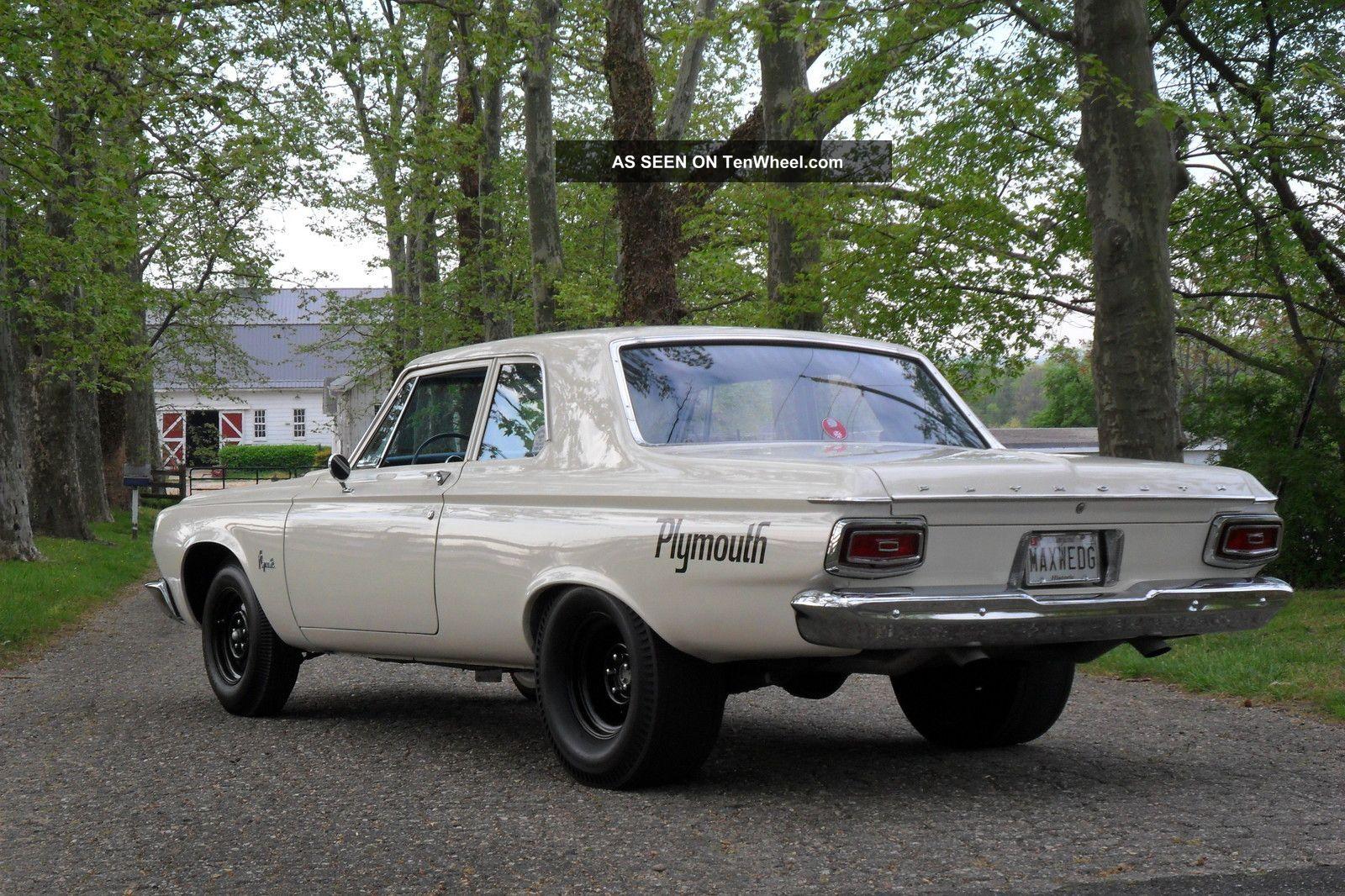 1964 Plymouth Savoy Max Wedge 2door Sedan Post Stock