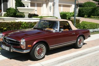 280 Sl 1970 Beauty Exceptional Condition 4 Speed Manual 2 Tops A / C photo