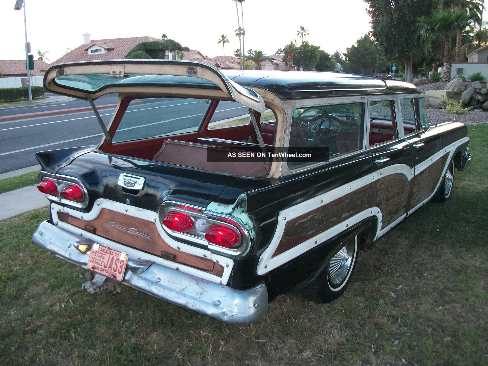 1958 Ford Country Squire 9 Passenger Station Wagon