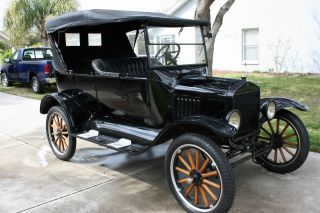Really 1923 Model T Ford Touring Car - Looks Good And Runs Good - Black photo