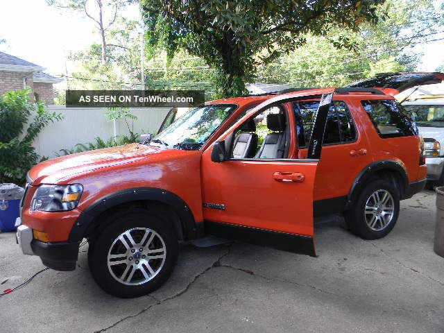 2007 ford explorer rare harley davidson orange