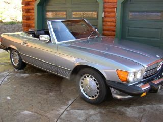 1987 Mercedes Benz 560sl Convertible Coupe Mb 560 Sl Both Tops photo