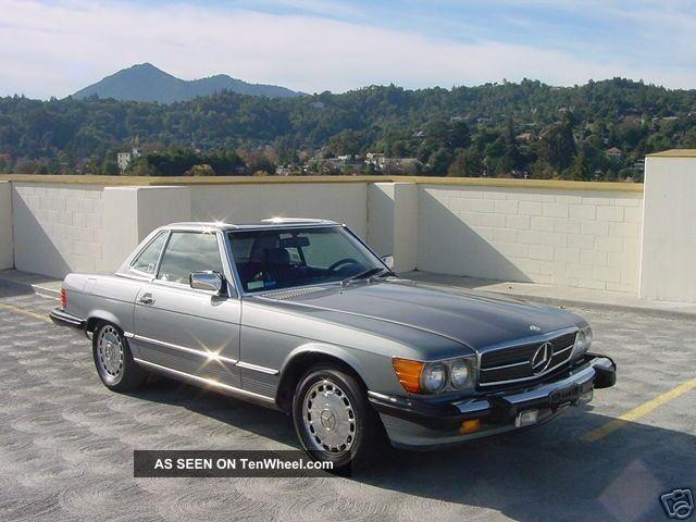 1987 mercedes benz 560sl convertible coupe mb 560 sl both tops for Mercedes benz convertible tops