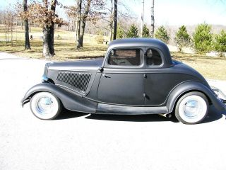 1934 Ford Henry Steel 5 Window Coupe Custom Classic Hot Street Rod No Rat photo