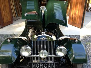 Morgan 1953 Plus 4 Flat Radiator Dual Spare Two Seater British Racing Grn / Brwn+4 photo