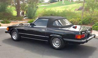 1985 Black Mercedes Benz 380sl Convertible - - photo