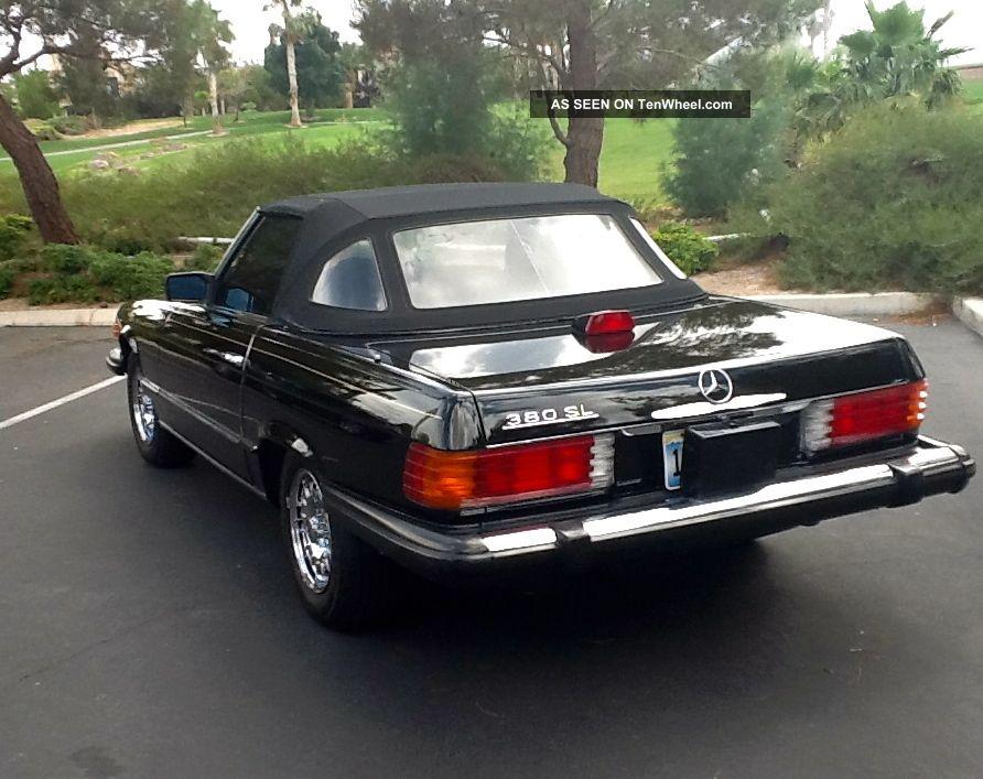 1985 black mercedes benz 380sl convertible for 1985 mercedes benz