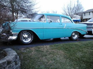 1956 Chevy 150 / 210 Blue 350 4 - Speed photo