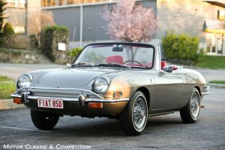 1971 Fiat 850 Spider,  And Charismatic,  Wire Wheels And Luggage Rack photo